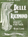 Belle of Richmond: Characteristic March and Cake Walk Sheet Music Cover