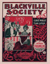 Blackville Society Cake Walk and Two Step Sheet Music Cover