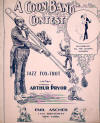 A Coon Band Contest: Jazz Fox-Trot Sheet Music Cover