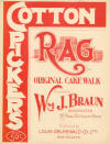 Cotton Pickers Rag: Original Cake Walk Sheet Music Cover