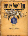 Daisies Won't Tell: Waltz Song Sheet