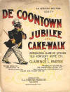 De Coontown Jubilee: Cake Walk: An African Ragtime Oddity Sheet Music Cover