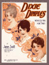 Dixie Dimples Sheet Music Cover