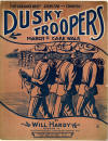 Dusky Troopers March & Cake Walk Sheet Music Cover