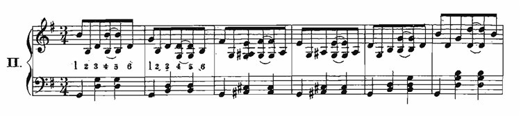Example of ragtime waltz pattern from Axel