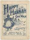 """Happy Hannah"": Cake Walk Sheet Music Cover"