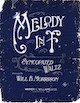 Sheet music cover for Melody in F