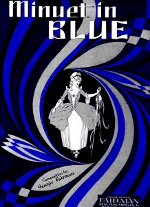 Sheet music cover for Minuet in Blue