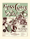 Miss Cinda's Walk Two-Step and Cake-Walk Sheet Music Cover