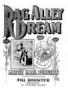 Rag-Alley Dream Sheet Music Cover