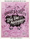 A Rag-Time Skedaddle: March & Cake Walk Sheet Music Cover