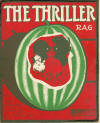 The Thriller Rag Sheet Music Cover